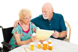 Pharmacist holding paper