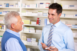 Pharmacist and Patient Talking